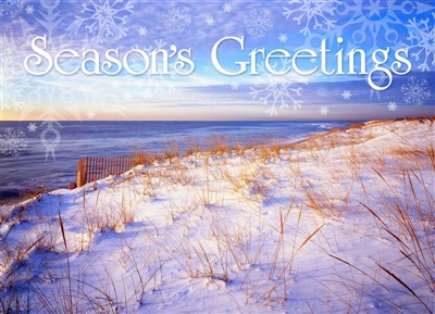 Atlantic Ocean, Westhampton Holiday Card