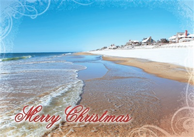 Main Beach, East Hampton Christmas Cards