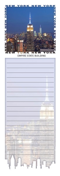 Empire State Building Magnetic Notepad