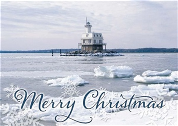 Bug Lighthouse, Greenport Christmas Cards