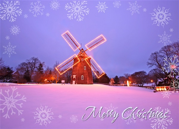 Old Hook Mill, East Hampton Christmas Cards