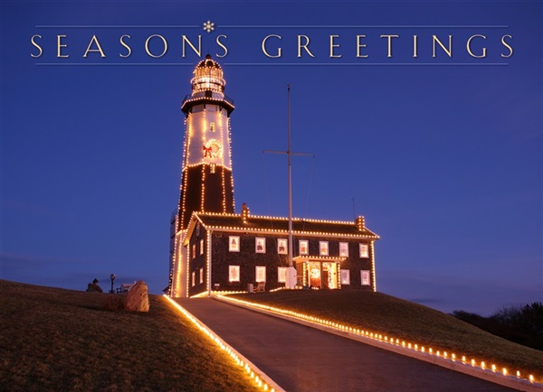 Montauk Point Lighthouse Holiday Card #8