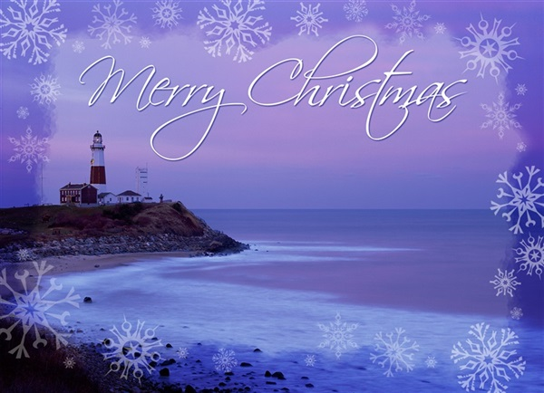 Montauk Point Lighthouse Christmas Cards #9