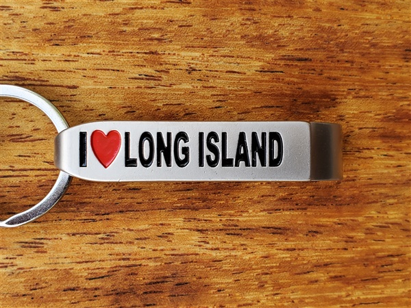 I Love Long Island Bottle Opener Keyring