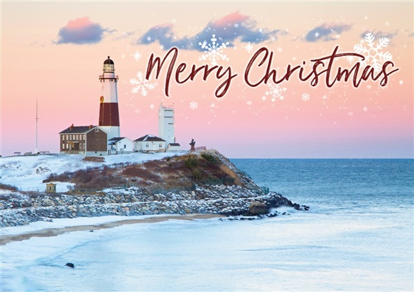 Montauk Point Lighthouse Christmas Cards #10