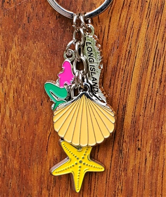 Long Island Mermaid Charm Keyring