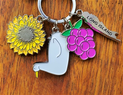 Long Island Charm Keyring (Big Duck)