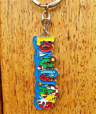 Long Island Colors Keychain