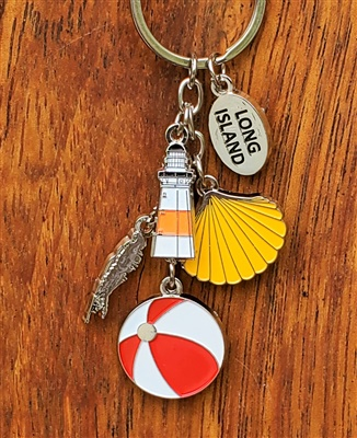 Long Island Lighthouse Charm Keyring